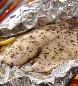 Grilled Cod with Lemon Olive Oil